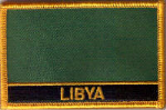 Libya Old Embroidered Flag Patch, style 09.